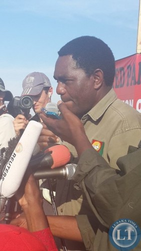 HH speaking at the UPND rally