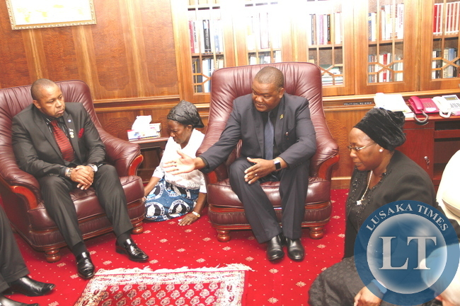 Malawi deputy President Saulos Chilima during his visit to First Lady Dr Christine Kaseba at State House on November 10,2014 -Picture by THOMAS NSAMA