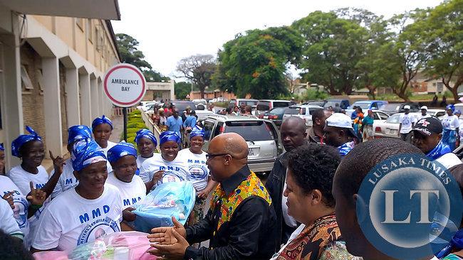 Dr Mumba arrives  at UTH