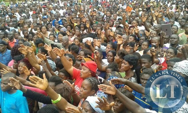 Crowds in Chipata