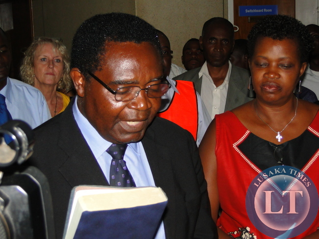 Godfrey Miyanda  with Wife at the filling in of n his nomination