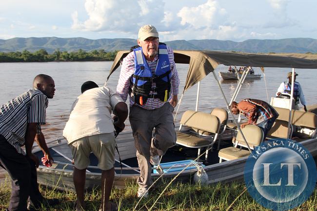 Dr Scott at Nyamangwe Island lower Zambezi national Park