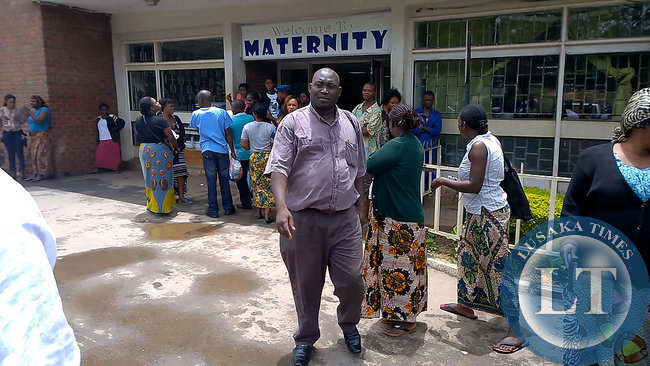 Outside Maternity Ward