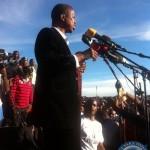 Edgar Lungu addressing the Mandevu rally