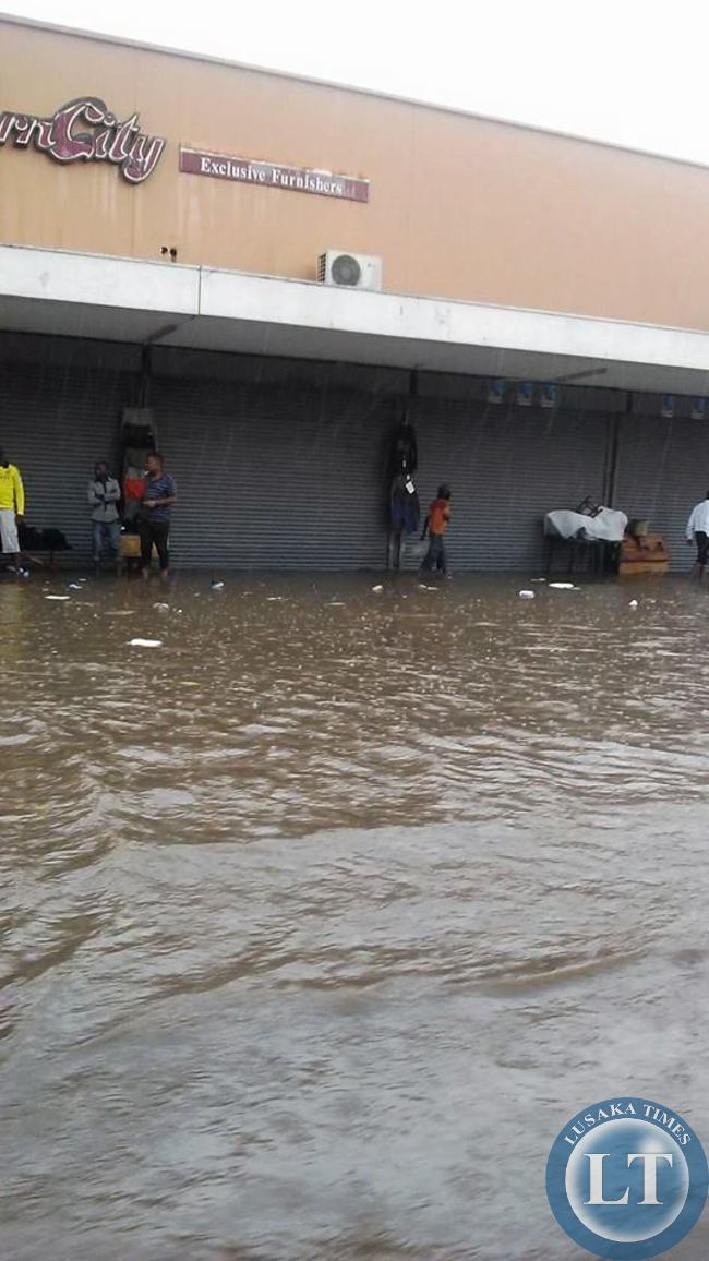 Flooded Streets of Lusaka due to heavy rains
