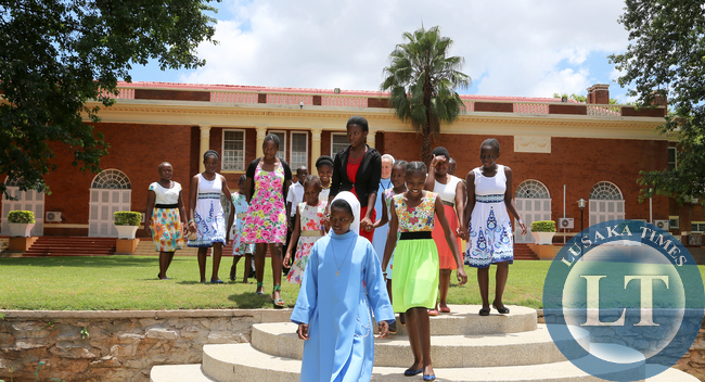 Children From Kasisi Home at Statehouse during the Golf Tournment on Sunday - Picture By Eddie Mwanaleza.