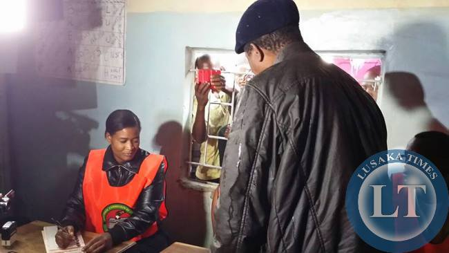 Edgar Lungu enters the voting station
