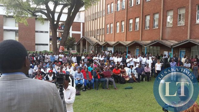 Students at Ridgeway campus