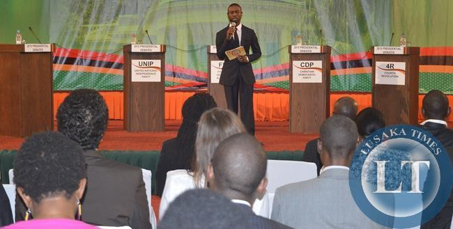 Moderator Costa Mwansa of Muvi TV