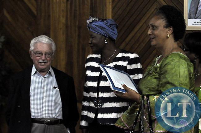 Ms Edith Nawakwi with Simon Zukas (l)