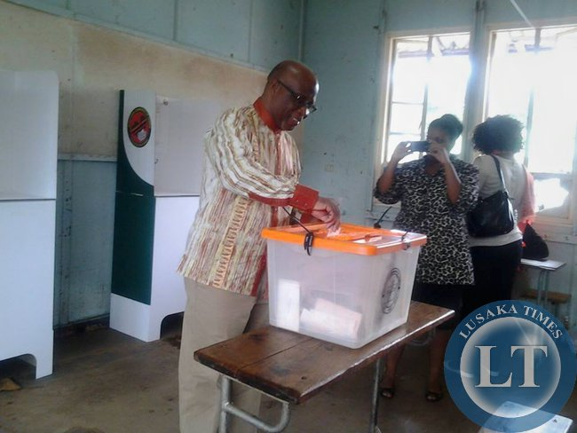 Nevers Mumba casting his vote