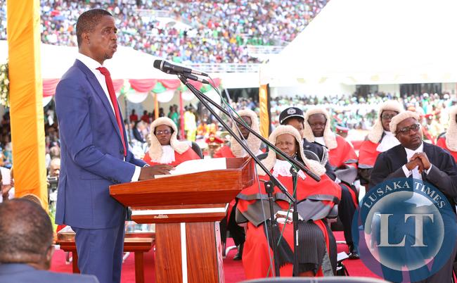President Lungu Inaugural Address at Heroes Stadium