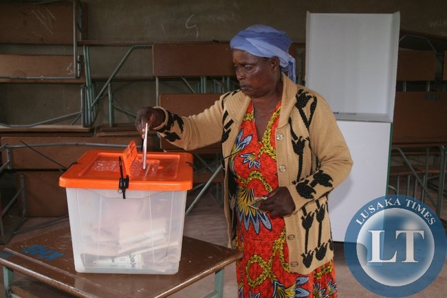 Presidential voting in Solwezi