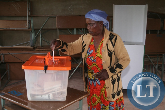Presidential voting in Solwezi, Zambia