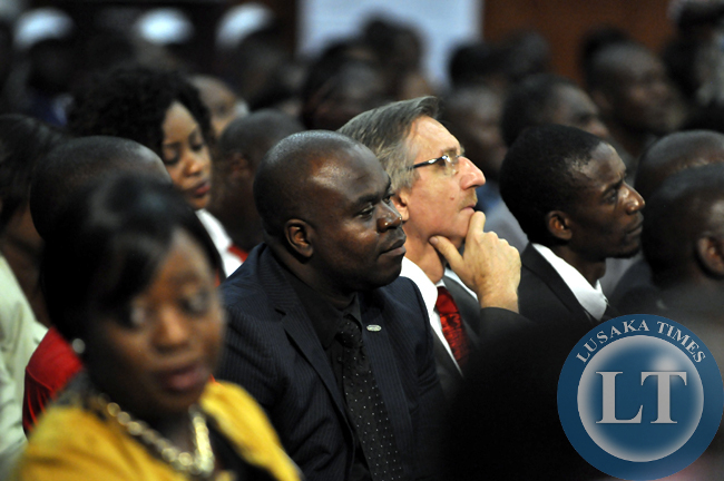 File:SACCORD Executive director Boniface Chembe captured in the audience during the presidential debate