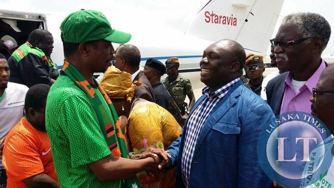 Edgar Lungu with Amos Malupenga