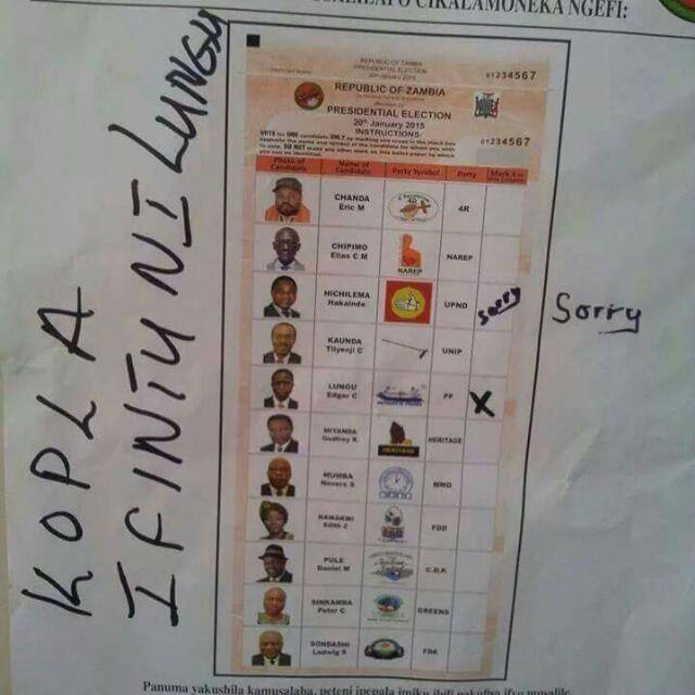 This is a one of the spoiled ballot papers