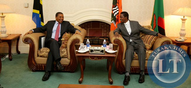 President Edgar Lungu during the opening of Private talks with President Dr Jakaya Kitwete delegation at at Statehouse in Lusaka on 25-02-2015. PICTURE  BY EDDIE MWANALEZA/STATEHOUSE.