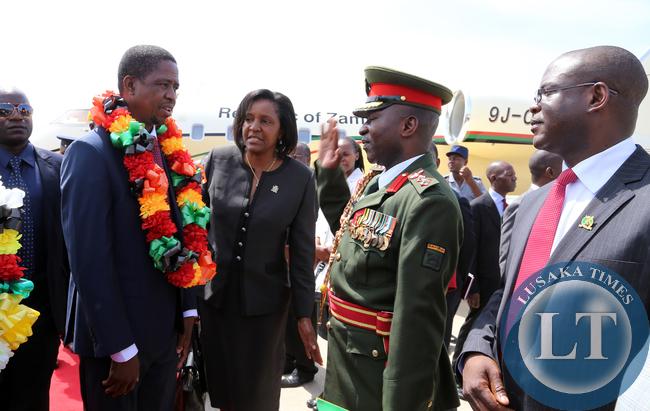 President Edgar Lungu Greets Zambian embassy officials