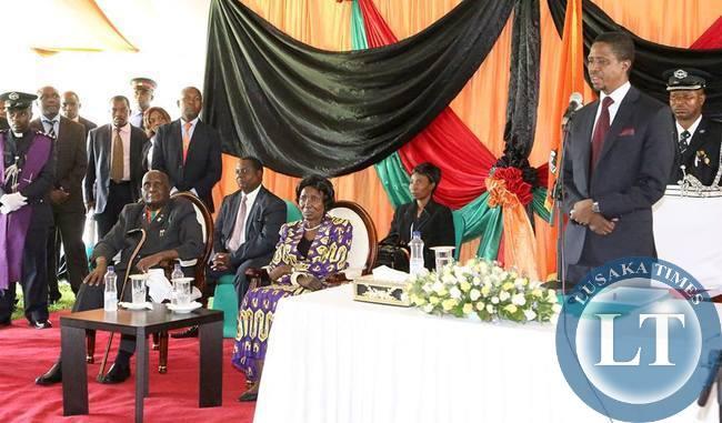 President Lungu addressing Deputy Ministers