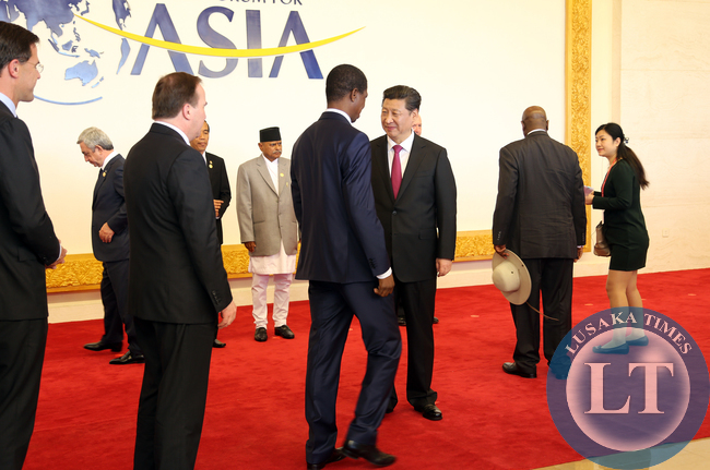 President Edgar Lungu and Chinese Leader Mr Xi Jinping with other World Leaders at Asian Boao Forum in China on Saturday for the Annual Summit 28-03-2015 -PICTURE BY EDDIE MWANALEZA/STATEHOUSE.