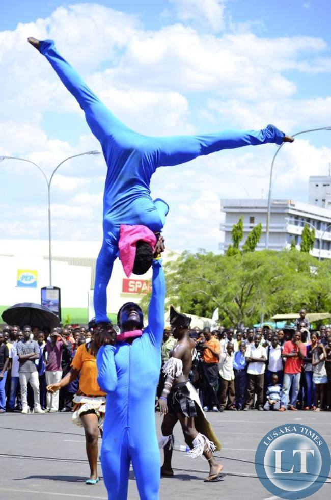Local acrobats up in the air