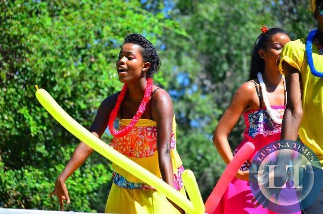 Members of the Seychelles National Dance Troupe added plenty of colour to the festival