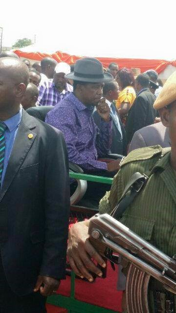 Presidcent Edgar Lungu at the Heroes Stadium today
