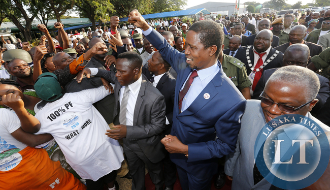 President Lungu Salute Pf Cadres in Livingstone