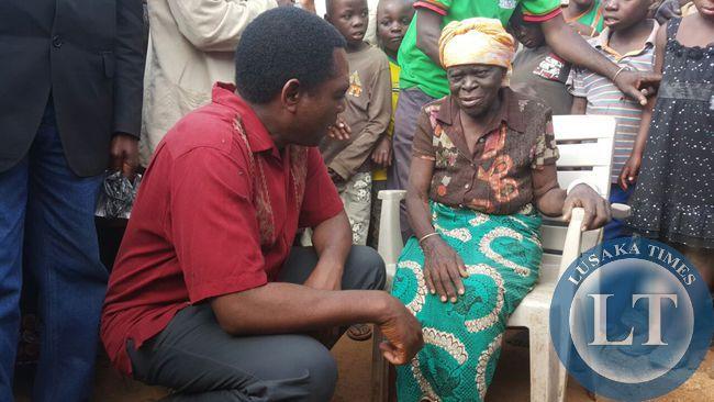 Bauleni residents tell UPND president Hakainde Hichilema about  their hardships
