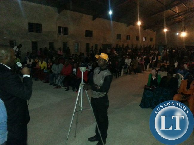 Part of the crowd listening to Mr Lusambo at the   fundraising gospel concert