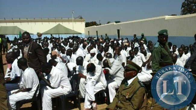 Yesterda's He was speaking in Kabwe today when he addressed hundreds of prisoners at Mukobeko maximum security prison