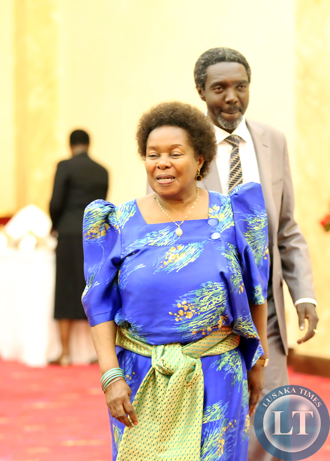 Mrs Mirria Obote with her Son Jimmy Akena