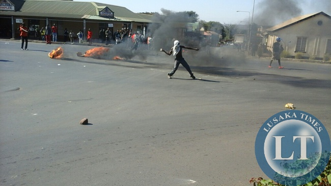 Drivers protesting fuel price hikes in Livingstone