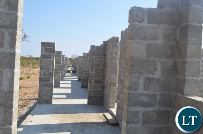 One of the classroom block under construction by China Jiangxi at a cost of K44 in Lundazi.