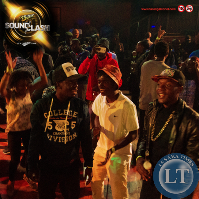 Revellers enjoy the Miller Soundclash at the Web in Lusaka