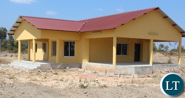 Some of the completed houses from the 15 housing units