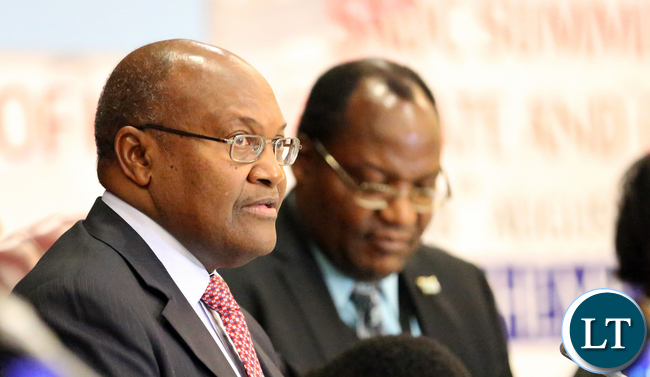 Mr Kenneth Mutambo Botswana Minister of finance and Planning SADC Councilof Ministers at Gaborone internatioanl Confrence Centre in Botswana on Friday 14th August 2015. Picture  By EDDIE MWANALEZA /STATEHOUSE.