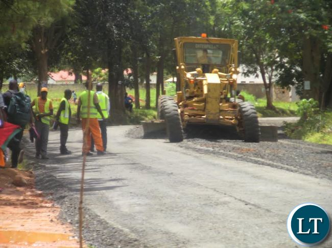 Upgrading of Serenje township roads to bituminous standard in progress.