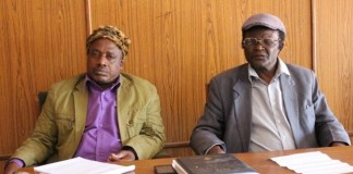 Chiefs Chibale (Left) of the Lala people of Serenje district with his counterpart and Chief Chitambo of the Lala people opf Chitambo district during a chief consultative meeting held in the Serenje district council recently.