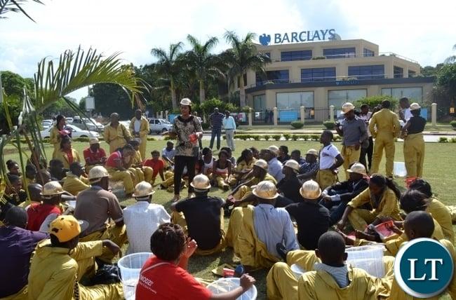 Pamela Chisanga with Action Aid Members