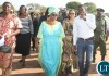 First Lady Esther Lungu Esther Lungu listens to Agriculture Deputy minister Greyford Monde on arrival in Itezi Tezhi for the continued outreach Programme for People with Special needs hon Sunday, September 6,2015 -Picture by THOMAS NSAMA