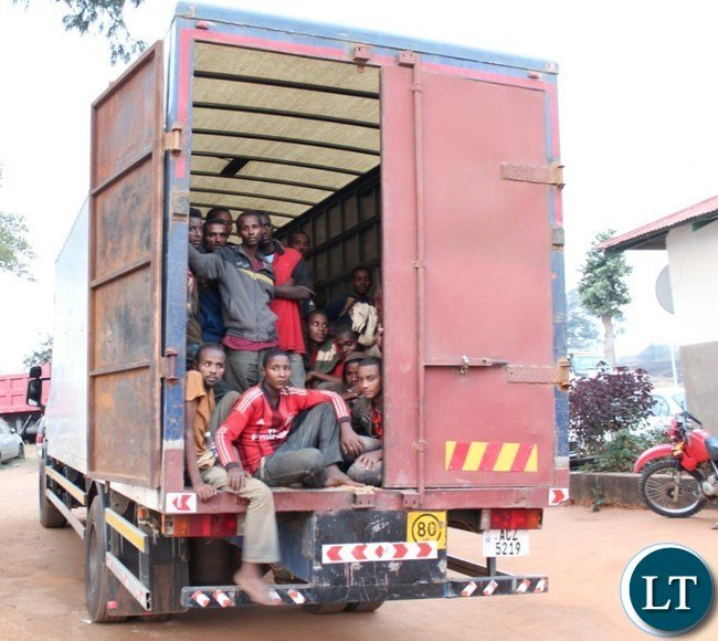 Zambia : Seventy Ethiopians Arrested in a Suspected Smuggling Case