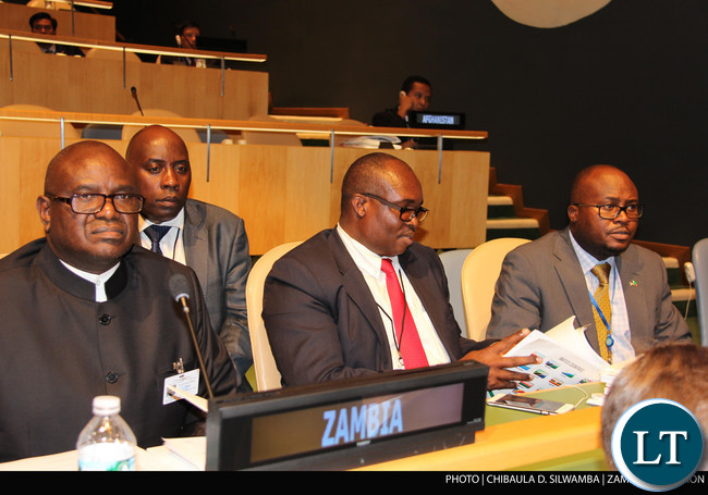 Speaker of the National Assembly of Zambia Dr Patrick Matibini at the Fourth World Conference of Speakers of the Parliament at UN Headquarters in New York on Monday  31stAugust 2015. PHOTO | CHIBAULA D. SILWAMBA | ZAMBIA UN MISSION