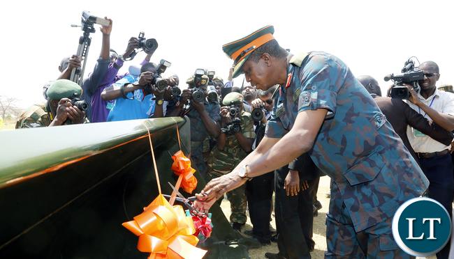 President Edgar Lungu Launchs ZNS Earth Moving Equipment