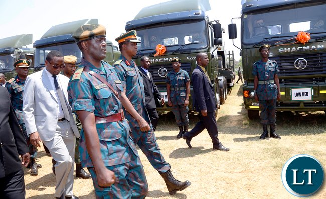 President Lungu Inspects ZNS Earth Moving Equipment