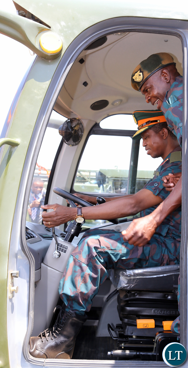 President Lungu Luanches ZNS Equipment at Chamba Valley