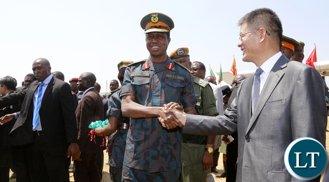 President Lungu Thanks China Ambassador To Zambia