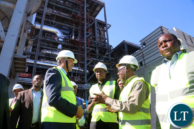 President Lungu Tour Maamba Collieries