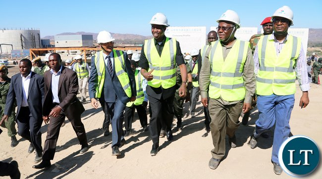 President Lungu Tour Maamba Collieries Plant